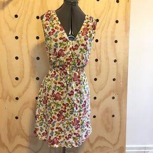 Fruit Print Sleeveless Summer Dress